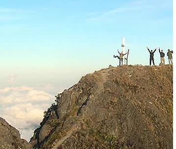 Guidad vandring till toppen av Baru vulkanen i provinsen Chiriqui, Panama